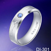 Wholesale Mens rings DiamondTungsten Ring Fashion jewelry wedding ring tungsten ring