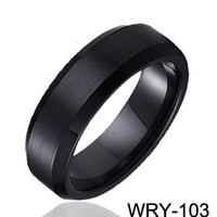 Wholesale wedding rings for men Black Plated Tungsten Rings wedding bands engagement Rings