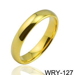 18K gold Plated rings Carbide 5mm Tungsten Rings fashion jewelry wedding bands for menEternity Rings