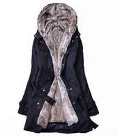 Wholesale Hot sell Faux fur lining women s fur coats winter warm long coat clothes Women s Outerwear D9