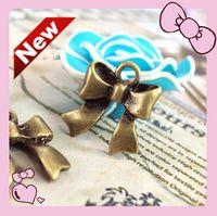 Wholesale DIY jewelry accessories bronze alloy bowknot cheap accessories hair accessories