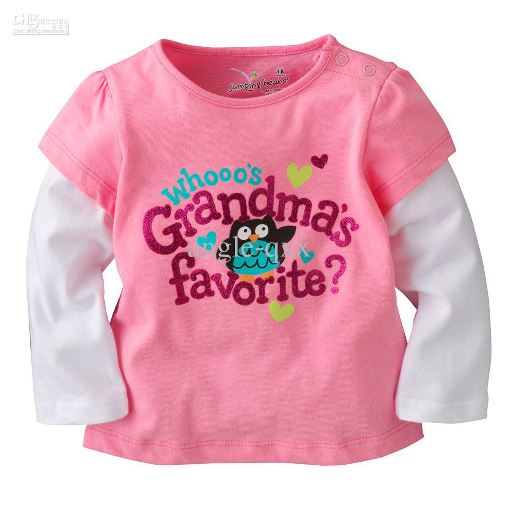 Online cheap jumping beans girls tshirts jumpers boys t for Newborn girl t shirts