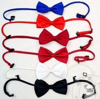 Wholesale Pet accessories jewelry necklace multicolor pet dog bow necklace