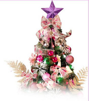 Wholesale 120cm Christmas Tree with decorations Bell Bowknot Ball LED Light Pink Christmas Tree as picture