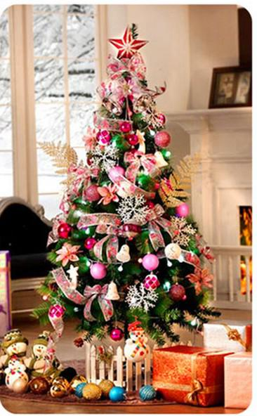 150cm Christmas Tree With Decorations Bell Bowknot Ball Led Light ...