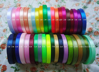 Wholesale Mixed Colors CM Satin Ribbon Gift packing Ribbons Christmas decoration Ribbons DIY satin Ribbons