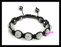 bead spreads - 1 PC Handmade Crystal Shamballa Bead Rope Spread Bracelet Pave Disco Ball Bracelet