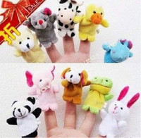 Wholesale 10 kinds of Animals Finger Puppet Toy Early Eductional Toy Babies lover