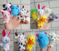 Wholesale Lovely Animals Finger Puppet Toys Early Eductional Toy Kids Friends kinds for choose