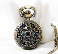 Wholesale Freeshipping mix different styles necklace small pocket watches Dia27mm DH051