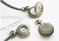 Quartz Analog  Mix style drop shipping Necklace Classic Pocket Watches Antique Pocket watch