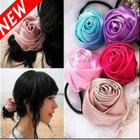 Wholesale Fashion Silk Rose Flower Hair Head Bands With Red Grey Pink Headbands For Girls And Women