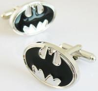 Wholesale Black Batman cufflinks