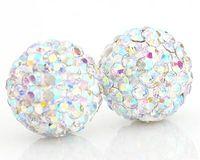 Wholesale 20PCS MM MM MM Crystal Pave Balls Crystal AB Rhinestone Disco Jewelry Bead
