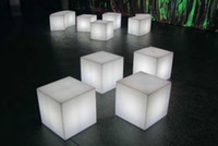 Wholesale Promotion LED cube chair bar stool color changing mm child use