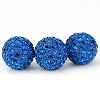 Wholesale 20PCS MM MM MM Jewelry Crystal Bead Sapphire Crystal Rhinestone Disco Pave Balls