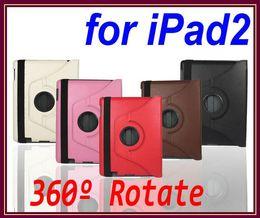 Wholesale Cheap New Apple Ipad - EMS DHL 10pcs Stand 360 Rotating Cheap PU Leather Case for New IPad 3 Ipad2 RW-L11-33