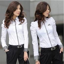 Wholesale Hot Sale OL Profession Shirt Women s Clothing Korea Version Long Sleeve Joker Purity Cotton White