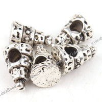 Wholesale 280PCS Charms Beads Cake Shape Metal Big Hole Bead Fit Diy Christmas Decoration Free EMS