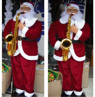 Wholesale 1 m Electric Santa Claus Dancing music Electrical toy Clause store display Christmas ornament