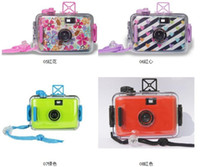 Wholesale Kids Lomo Camera Film Waterproof M Diving Underwater Cam Battery Free Camera Christmas EMS fast