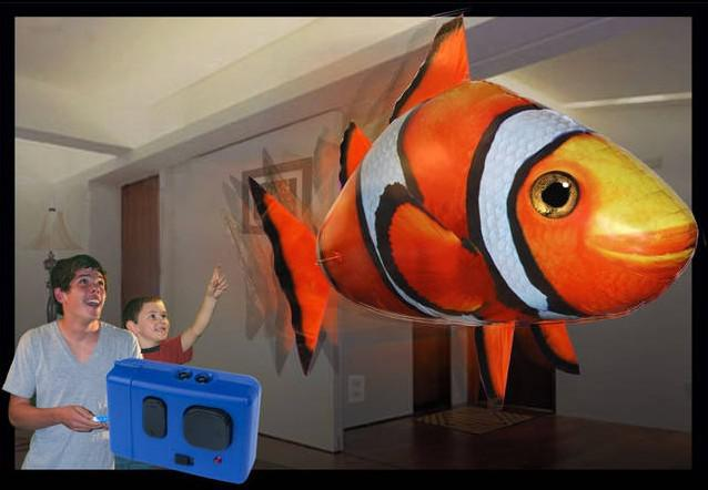 air swimmers flying fish flying shark clownfish nemo rc
