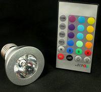 Wholesale 3W E27 Remote Control LED Bulb Light Color changing high power led bulb V V