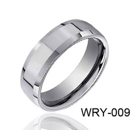 Wholesale High Gross Tungsten Rings Beveled Edges Style Fashion Rings for Gifts WRY Hot Sales