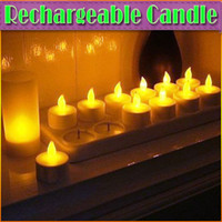 Wholesale 12pcs Rechargeable Candle Lamp LED Lights Realistic Tea Candles good idea for candlelight dinner