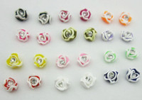 Fimo   120Pcs 3D FIMO Slice Rose Design Nail Art Decoration 12colors UV Acrylic Fashion Nail Beauty