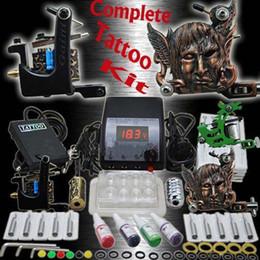 Complete Tattoo Kit 3 Special Design Machine Guns Needles Top Power Tattoo Inks
