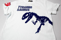 t-shirt printing - 2015 Hot Sale New style Boy s White cotton T Shirt Dinosaur Print G Size