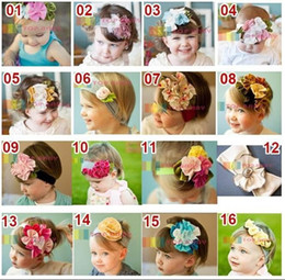 Hot sale! Toddler Baby Girl Elastic Multicolor Flower Headband Infants Hair Band Children Headwear Hair Accessories