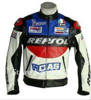Wholesale DUHAN REPSOL PU men s motorcycle jacket motorcycle racing jacket PU leather motorcycle