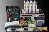 4 Guns Professional Kit tattoo power supply Complete Tattoo Machine Kit 4 Guns Machines 40 Color Ink Supply Set Equipment Supply