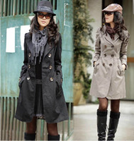 Wholesale Women s Ladies Fashion Slim Fit Double Breasted Trench Coat Outwear