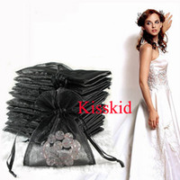 Wholesale Black Organza Gift Bag Wedding Favor Party Package Bags X12cm New
