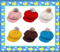 Wholesale Children s various beret caps red white pink yellow kid s hats girl s wool hat baby s snow warm cap