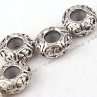 Wholesale 20PCS NEW Design Rubber Ring Stopper Charms Spacer Carved Beads Metal Positioning Bead