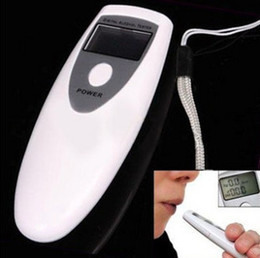 Wholesale 20pcs Digital display alcohol breathalyzer breath tester White alcohol tester