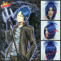 Blue Heat resistant  Free Shipping New Arrival Rokudo Mukuro Katekyo Hitman Reborn 96 Anime Cosplay Party Hair Full wig