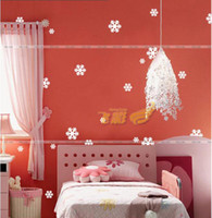 Wholesale Christmas Items Window Stickers Snowflakes Glass Cabinet Wall Sticker New Year Sticker