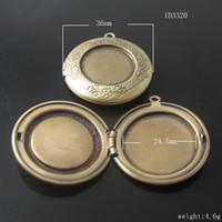 Copper album shipping boxes - Beadsnice pendant locket brass album box flat round photo locket pendant x36mm ID3320
