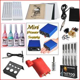 Wholesale Tattoo Kit Red Rotary Machine Gun Needle Ink Mini Power Grip Supply