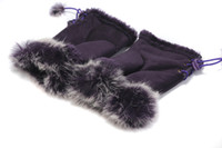 Wholesale 2011 hot Women purple mitt glove ladies mittens fashion girl s gloves mitten soft fur fingerless