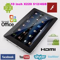 Wholesale 10 quot Flytouch tablet pc Android market skype GPS WIFI webcam flash Infortm X220 ARM11 superpad