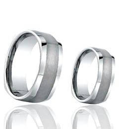 Couples Tungsten Carbide Ring Square Shape with Satin