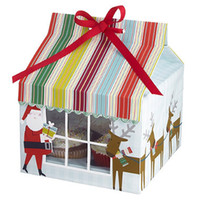 Wholesale Christmas design Four Cake packing Cake boxes Cupcake boxes with Insert BF168