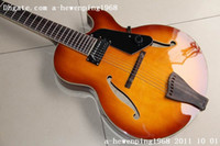 Cherry sunburst chinese acoustic guitars - Great OEM MIC acoustic Electric Guitar In Best Sunset chinese guitar