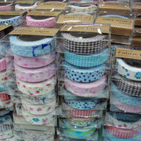 Wholesale Washi Masking Tape DIY Cloth Grid Stickers Cute Creative Stationery Colorful Sticky Japanese style